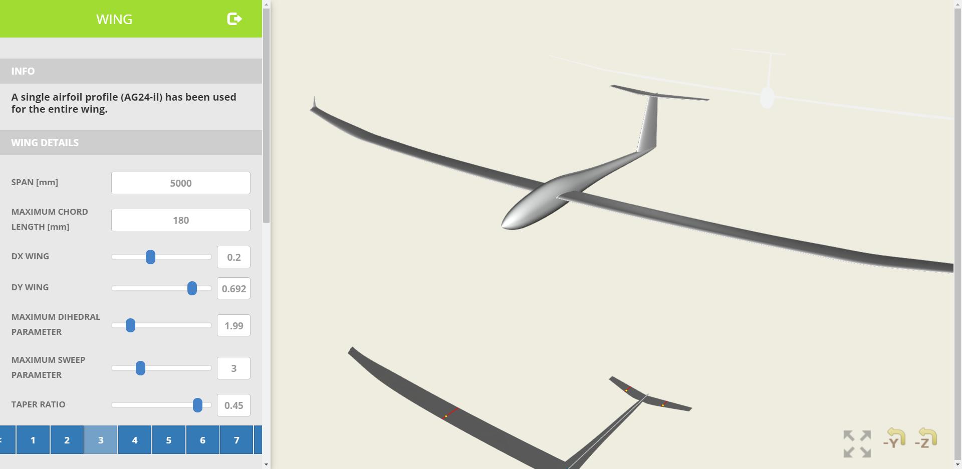 Glider Plane Design Tool
