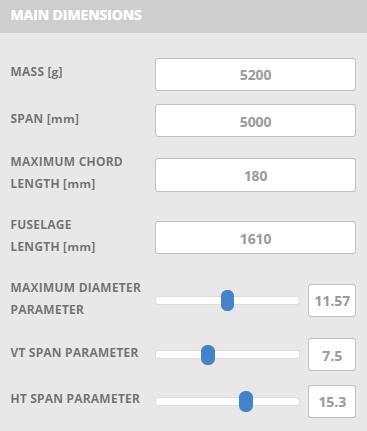 Glider Plane Design Parameters